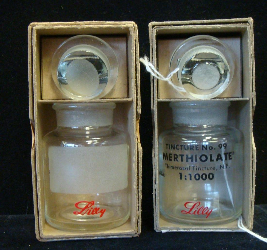Two Modern LILLY APOTHECARY BOTTLES, New in Boxes: