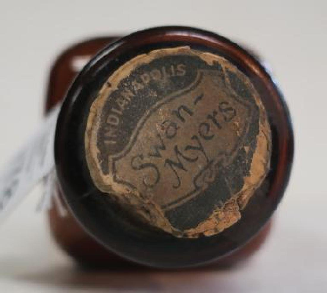 SWAN-MYERS CO Amber Pharmacy Bottle with Cork: - 3