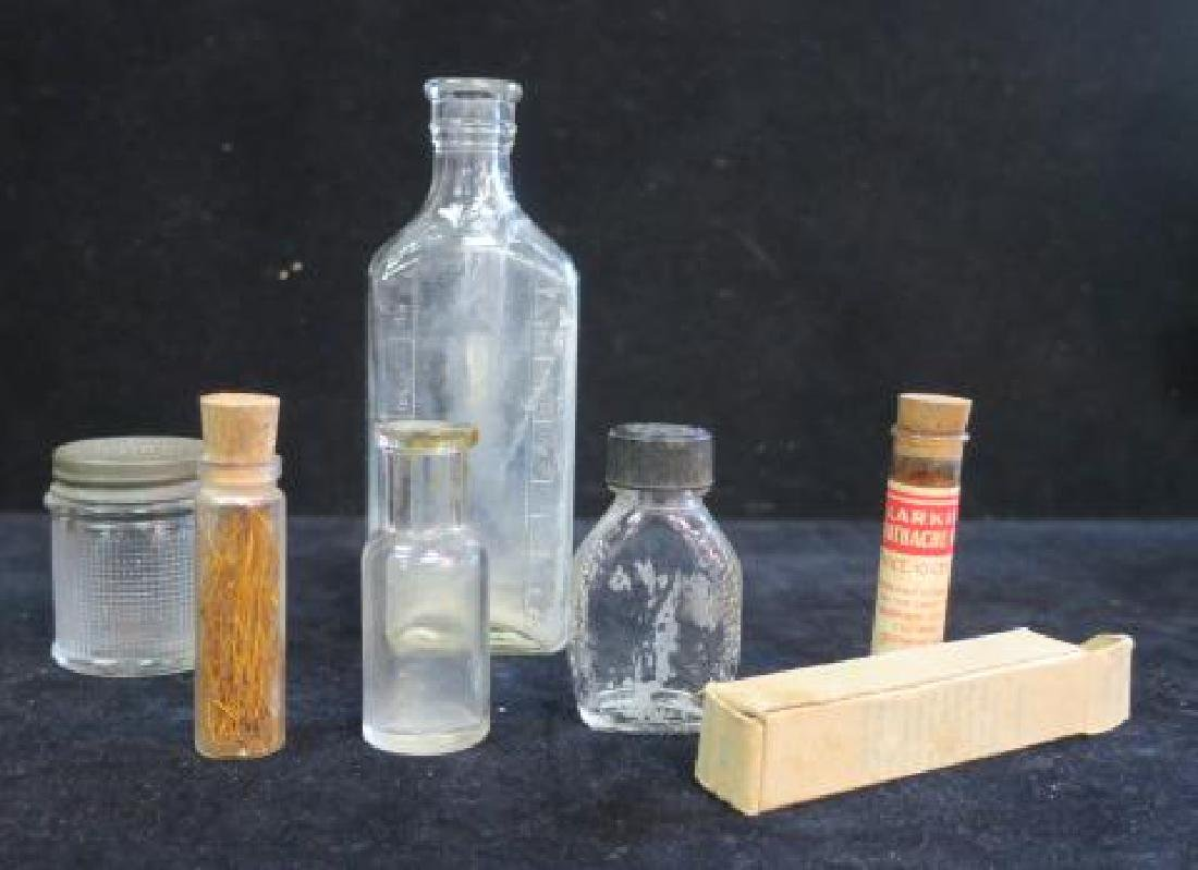 Collection of Six Patent Medicine Bottles: