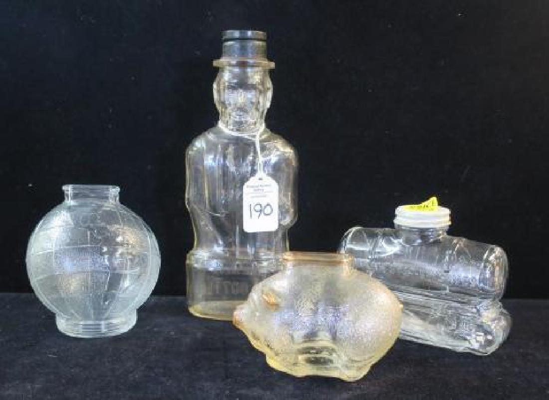 Four Bottle Glass Banks: