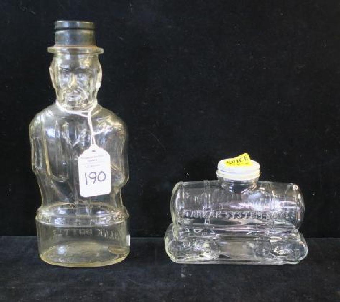 Four Bottle Glass Banks: - 2