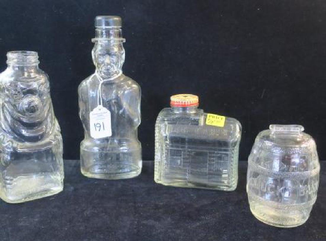 Four Bottle Glass Banks: