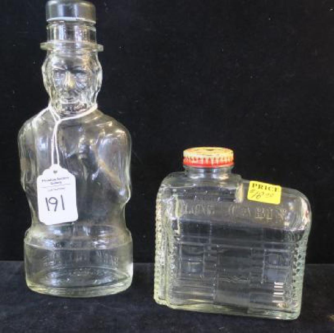 Four Bottle Glass Banks: - 4