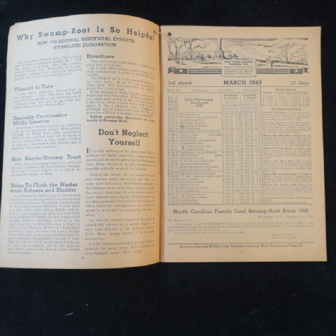 1943 SWAMP-ROOT ALMANAC; Weather, Horoscopes, Dreams: - 2