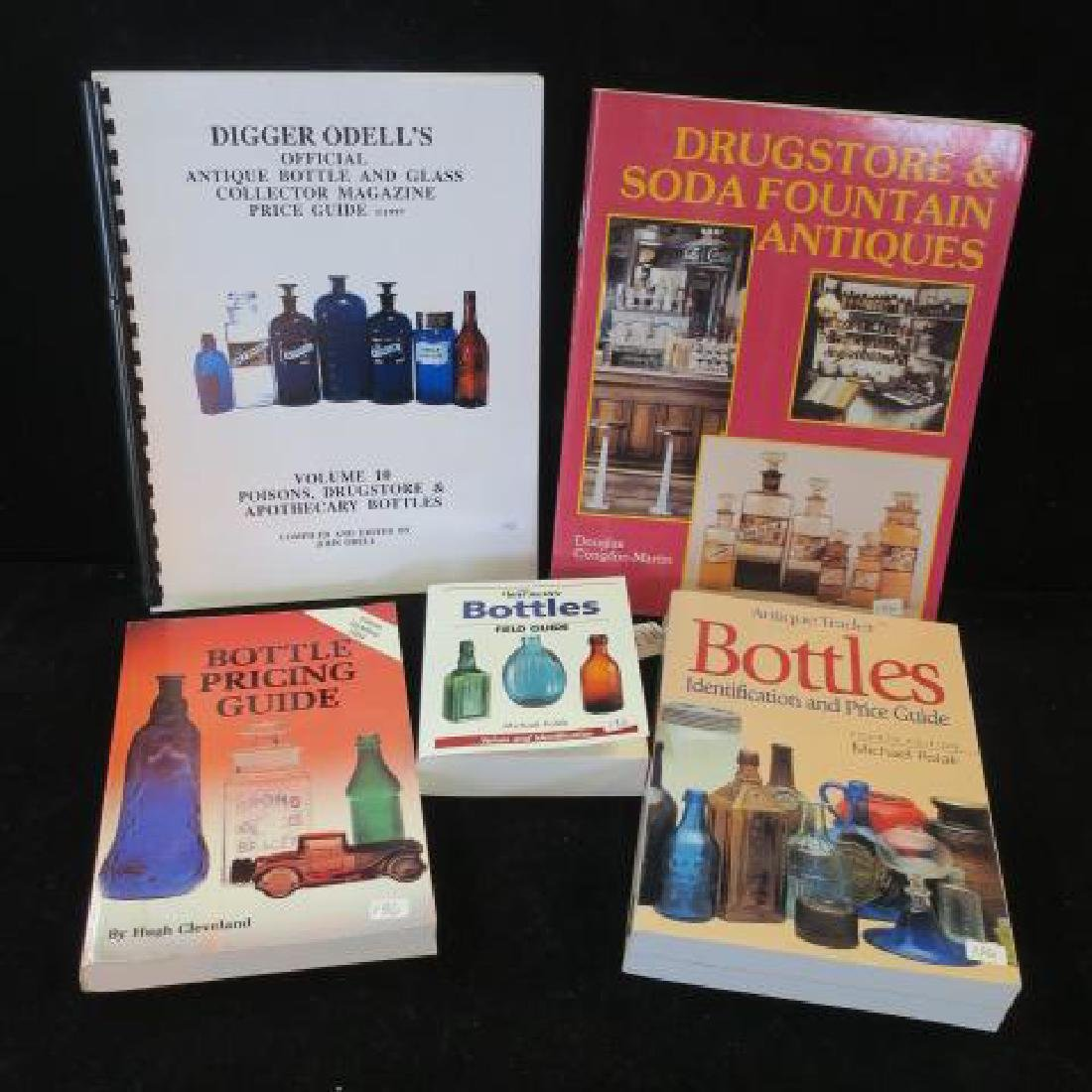 Five Pharmacy and Bottle Collector Books