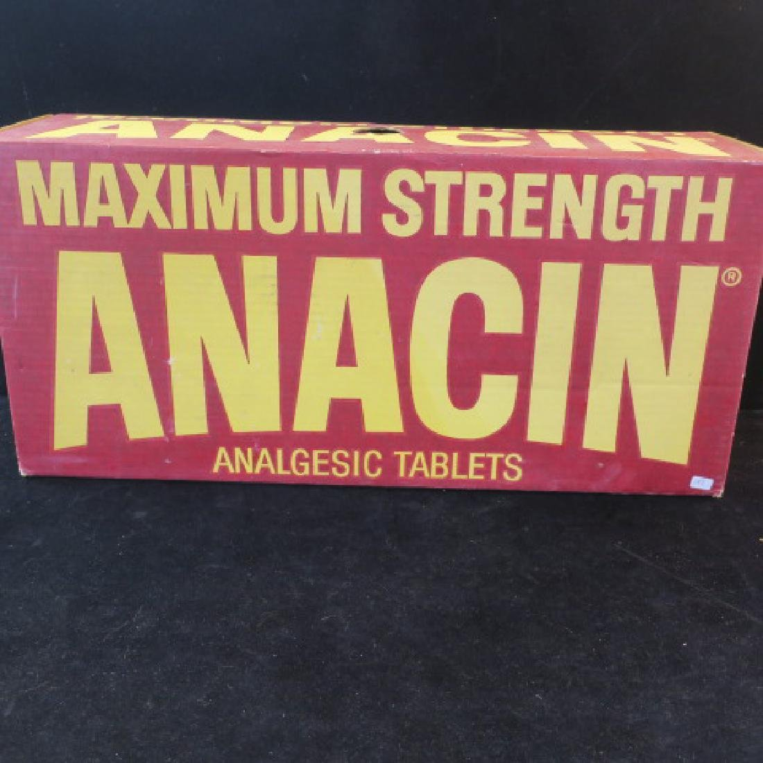 ANACIN ANALGESIC TABLETS Shipping Boxes; Green & Red: - 3
