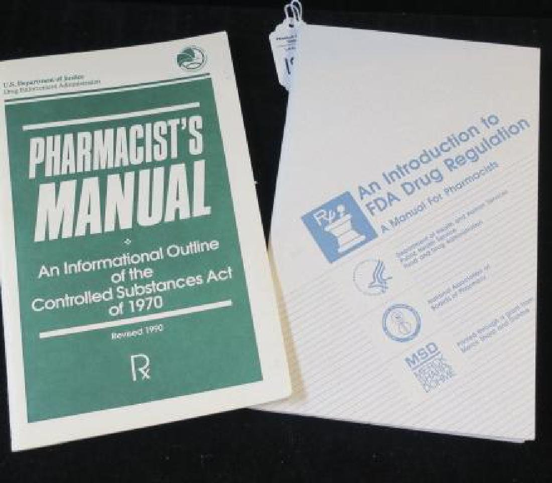 Pamphlets; FDA DRUG REGULATIONS & PHARMACIST MANUAL: