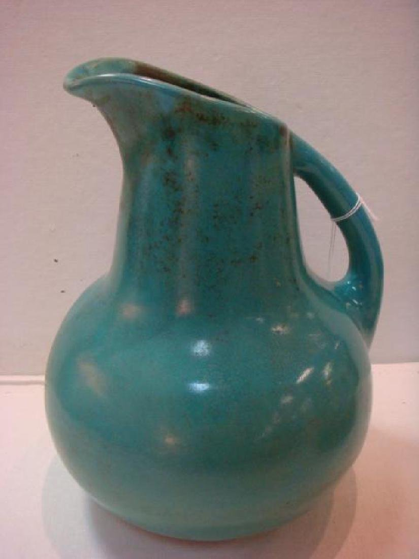 SHEARWATER POTTERY Teal Pitcher: