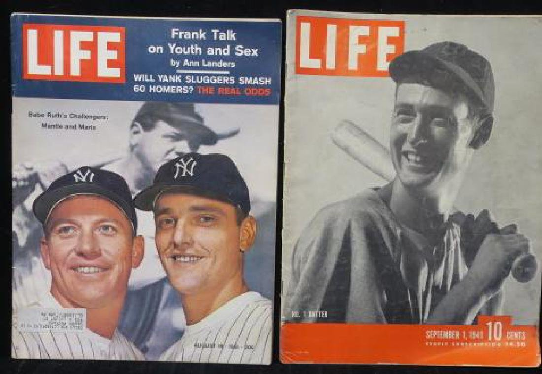 TWO LIFE MAGAZINES; MANTLE, MARIS, & WILLIAMS: