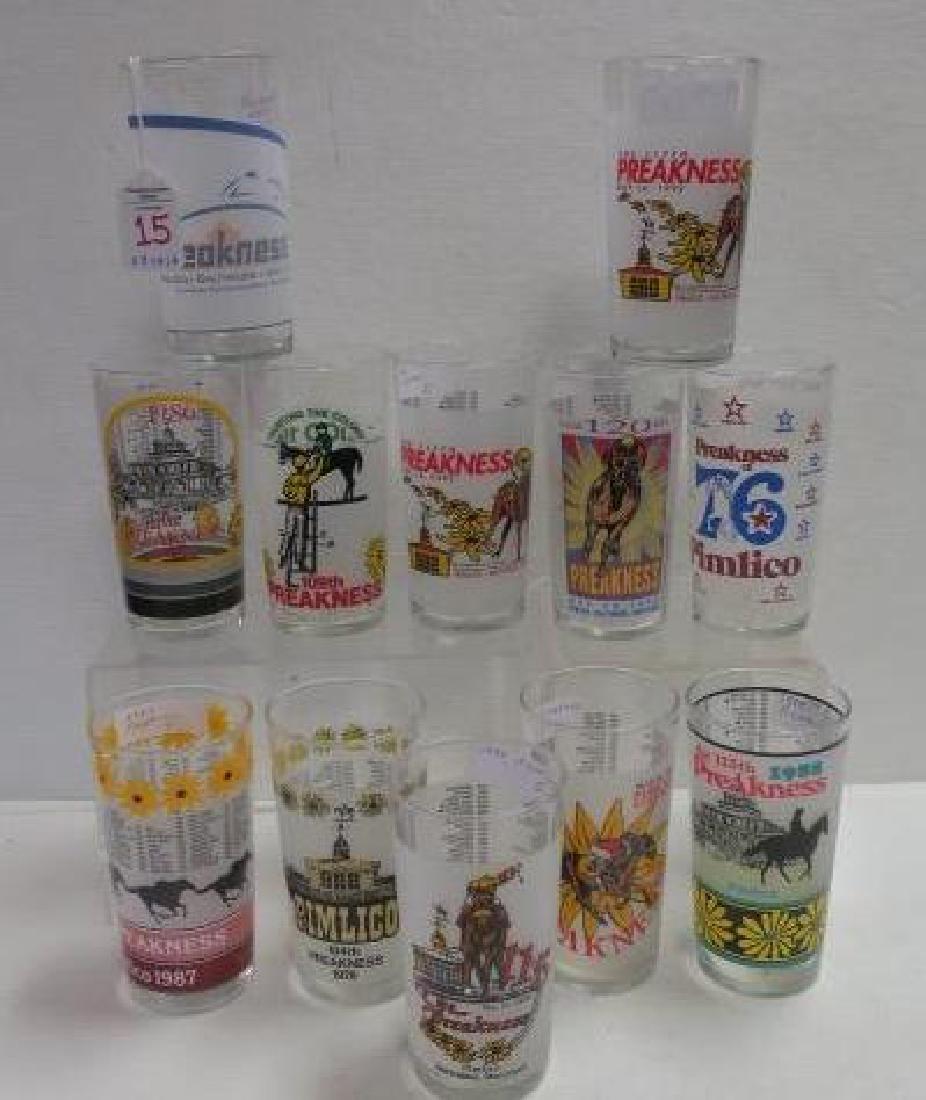 Twelve PREAKNESS Glasses: