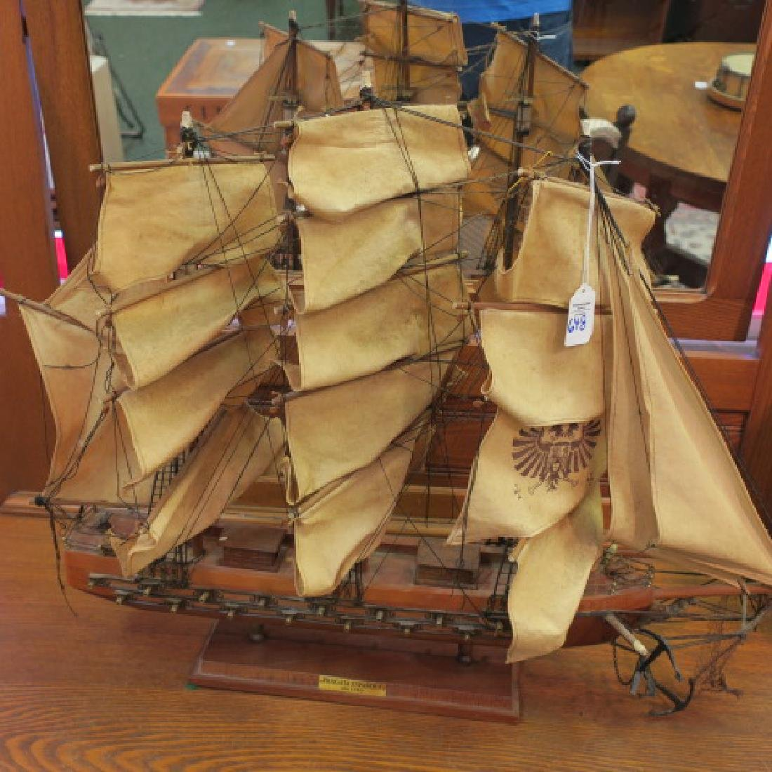 "Wooden Model of ""FRIGATA ESPANOLA alto 1780"":"