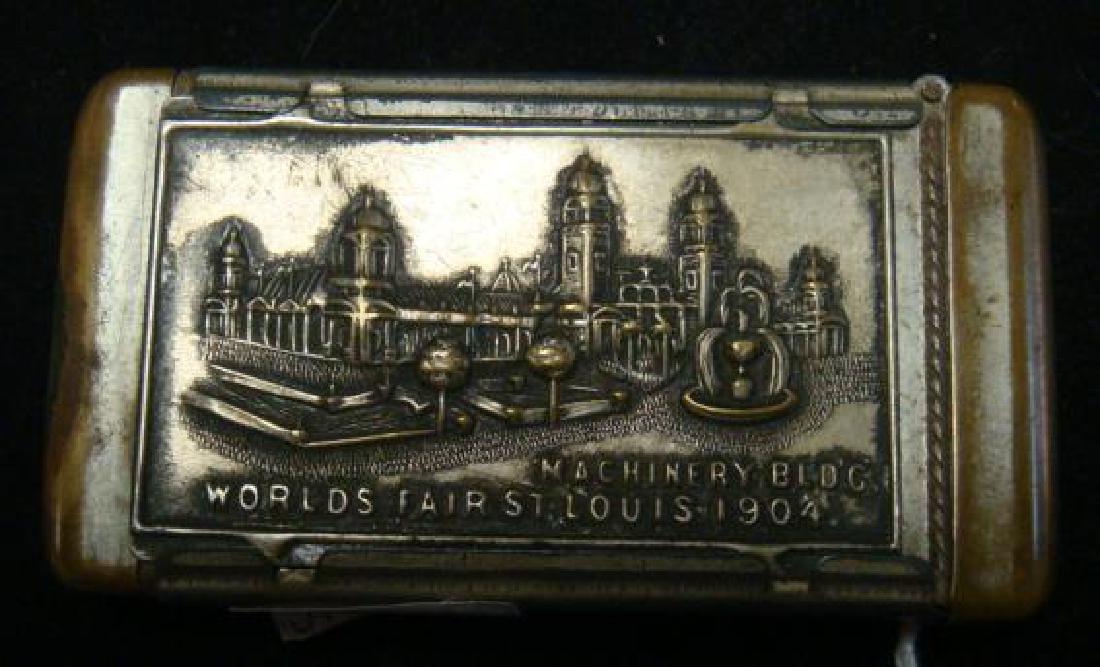 ST LOUIS WORLD'S FAIR 1904 MATCH SAFE: