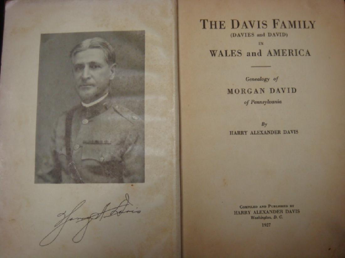 THE DAVIS FAMILY Genealogy Book, Harry Davis, CA 1927: