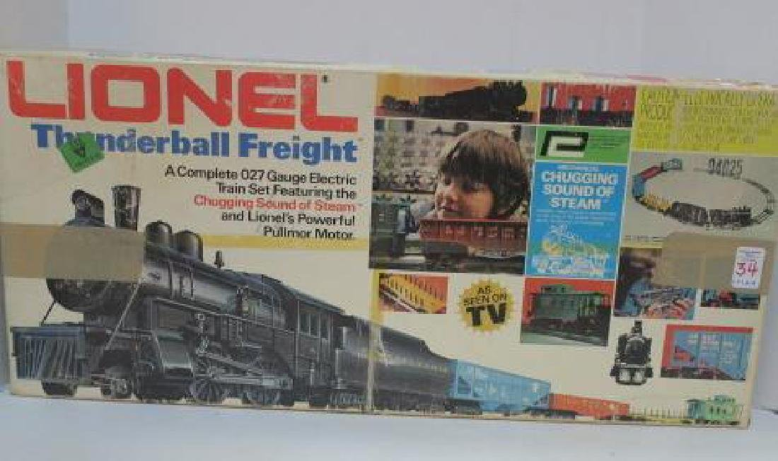 LIONEL TRAINS THUNDERBALL FREIGHT ELECTRIC TRAIN SET: