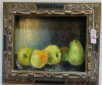 RENATA KEEP Oil Canvas Board Still Life With Fruit