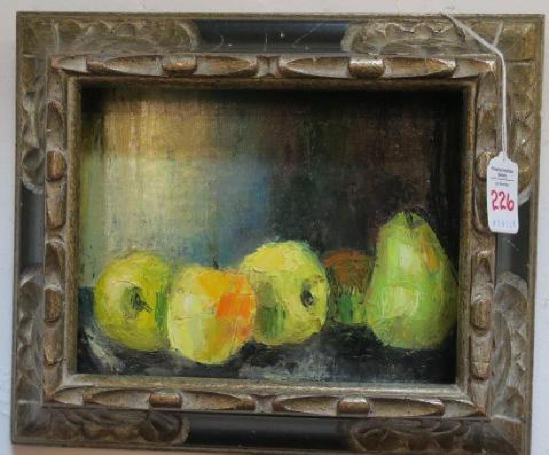 RENATA KEEP, Oil Canvas Board, Still Life With Fruit: