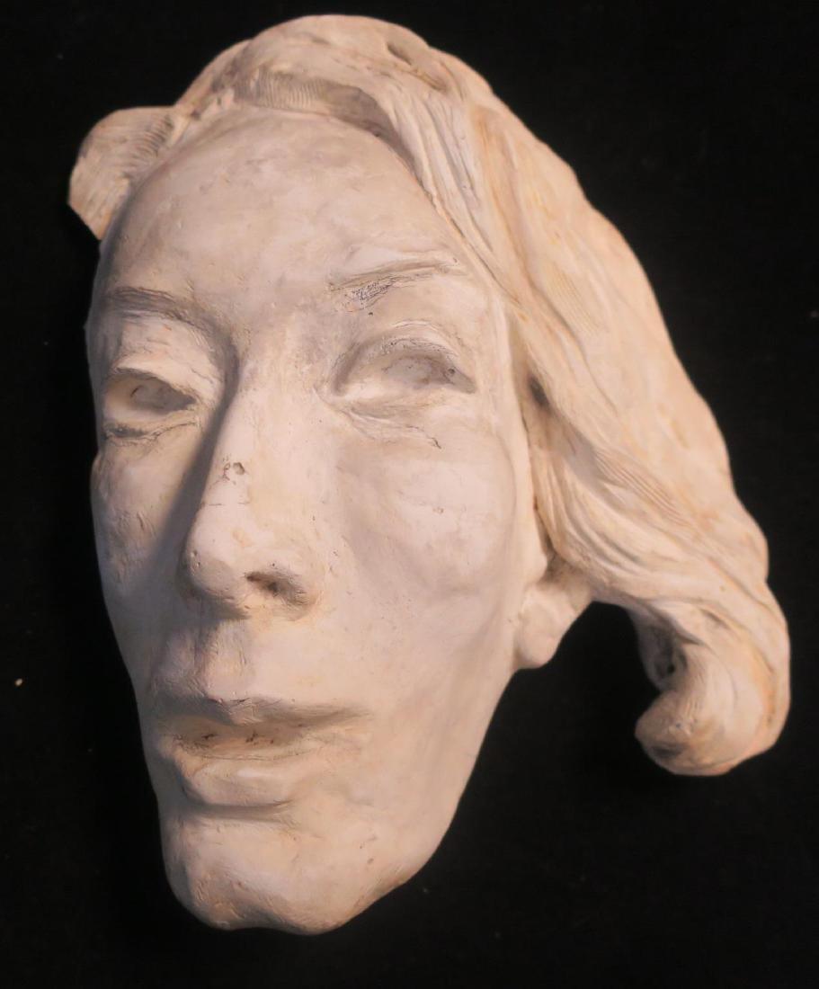 Plaster Female Life Mask: