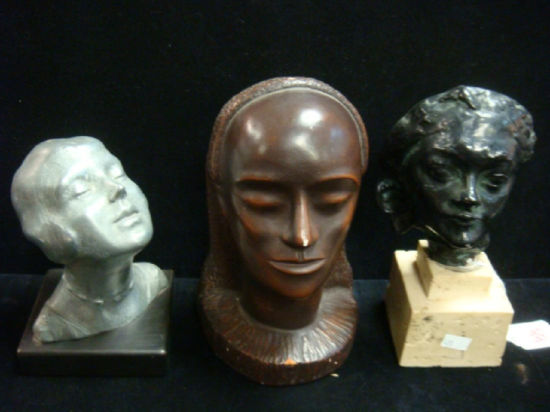 Three Small Sculpted Female Busts: