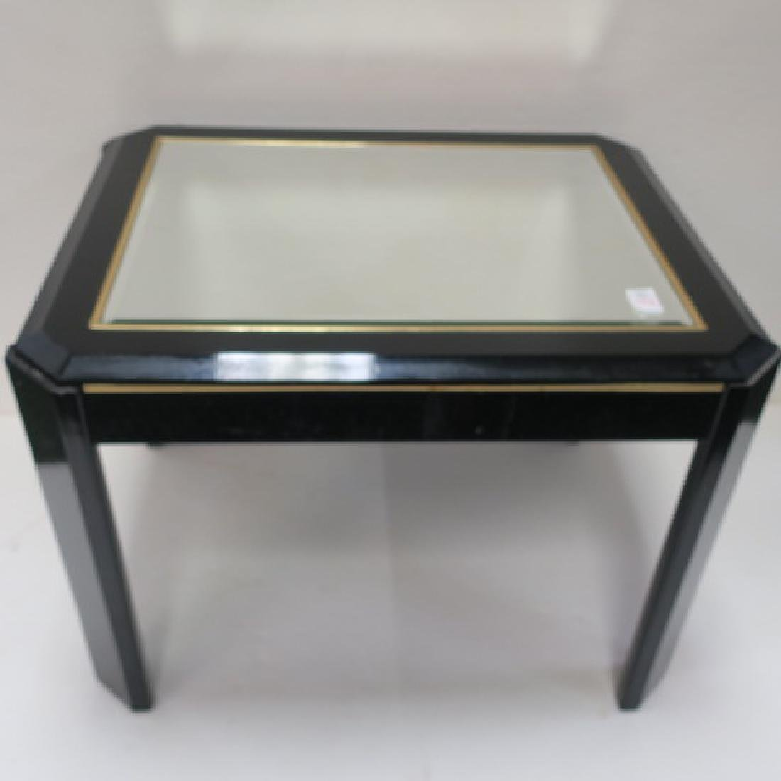 Rectangular Side Table with Mirror Top: