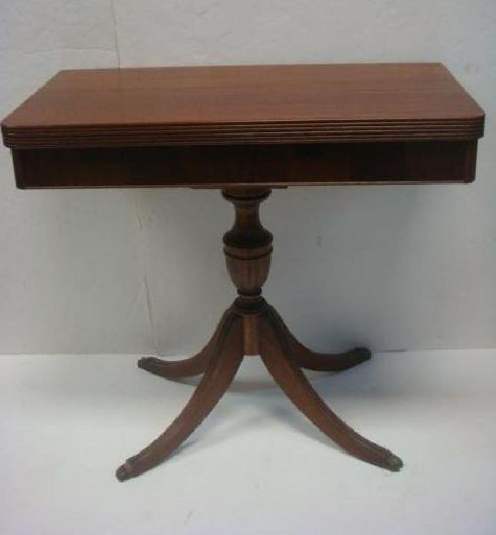 Empire Mahogany Veneer Game Table: