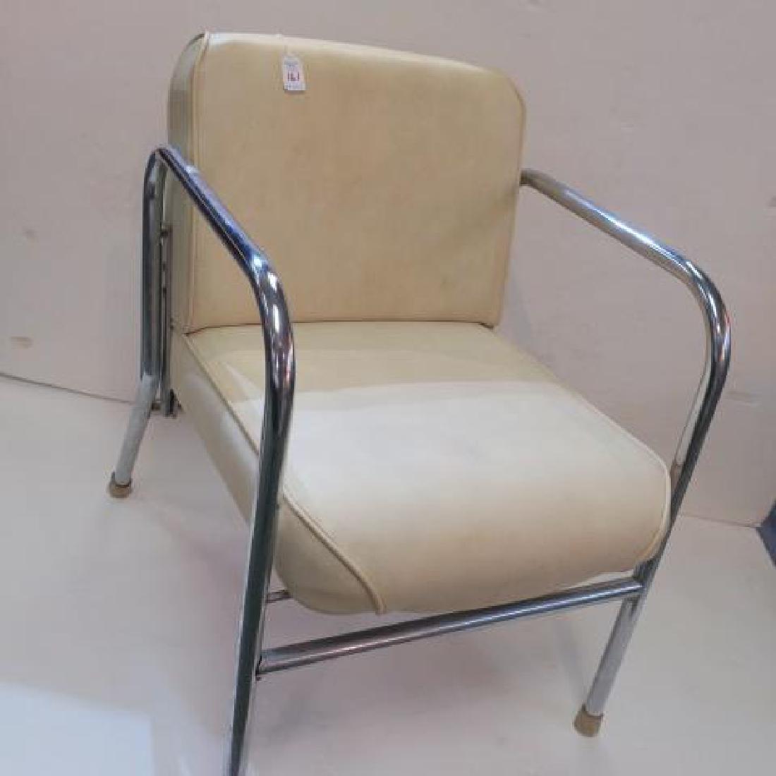GREGSON MFG Mid-Century Chrome Arm Chair: