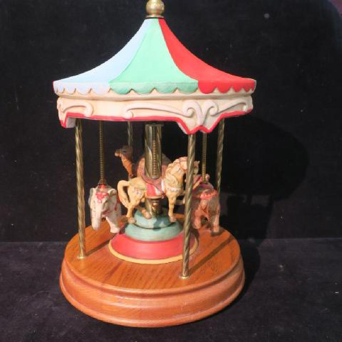Musical Carousel with Elephant, Bear, Horse & Camel: