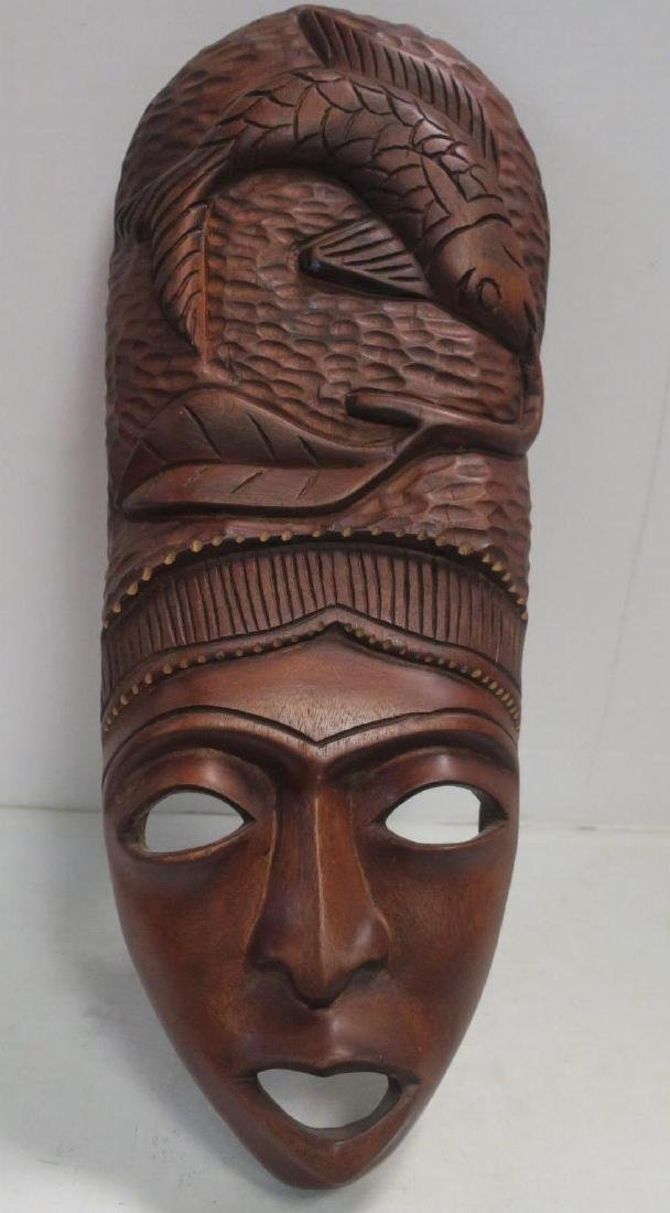 Hand carved African Fish Mask: