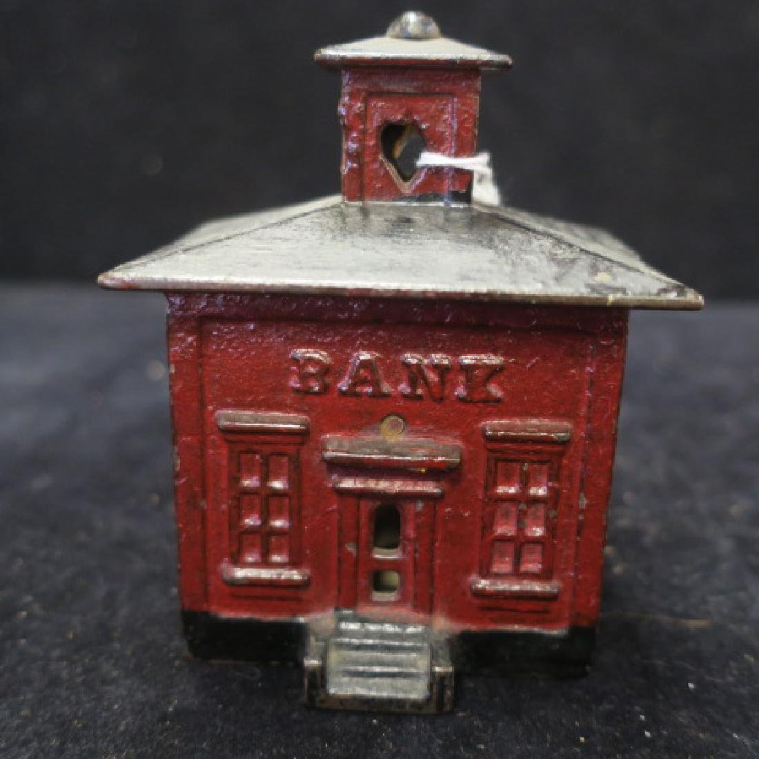 Antique CUPOLA BANK BULDING Cast Iron Bank: