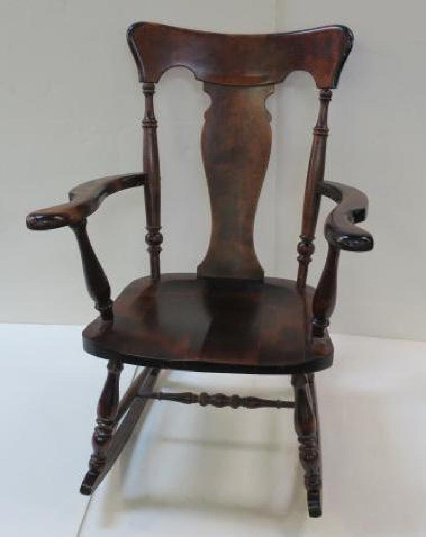 Splat Back Rocking Chair with Arms: