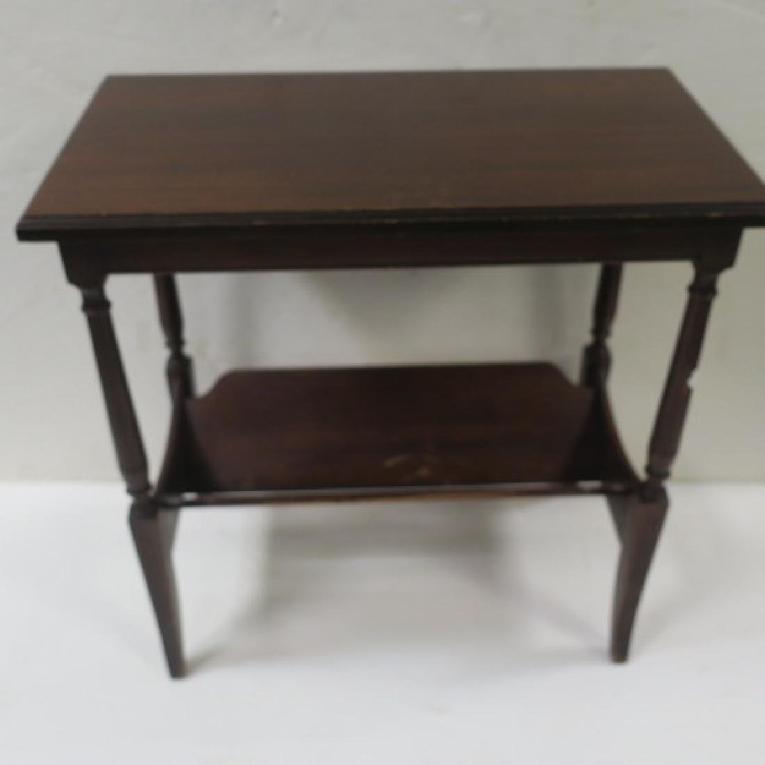 Mahogany Lamp Table with Book Trough: