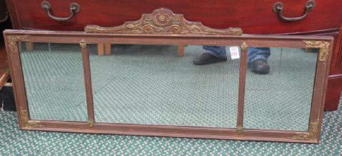 Over Mantle Three Section Mirror: