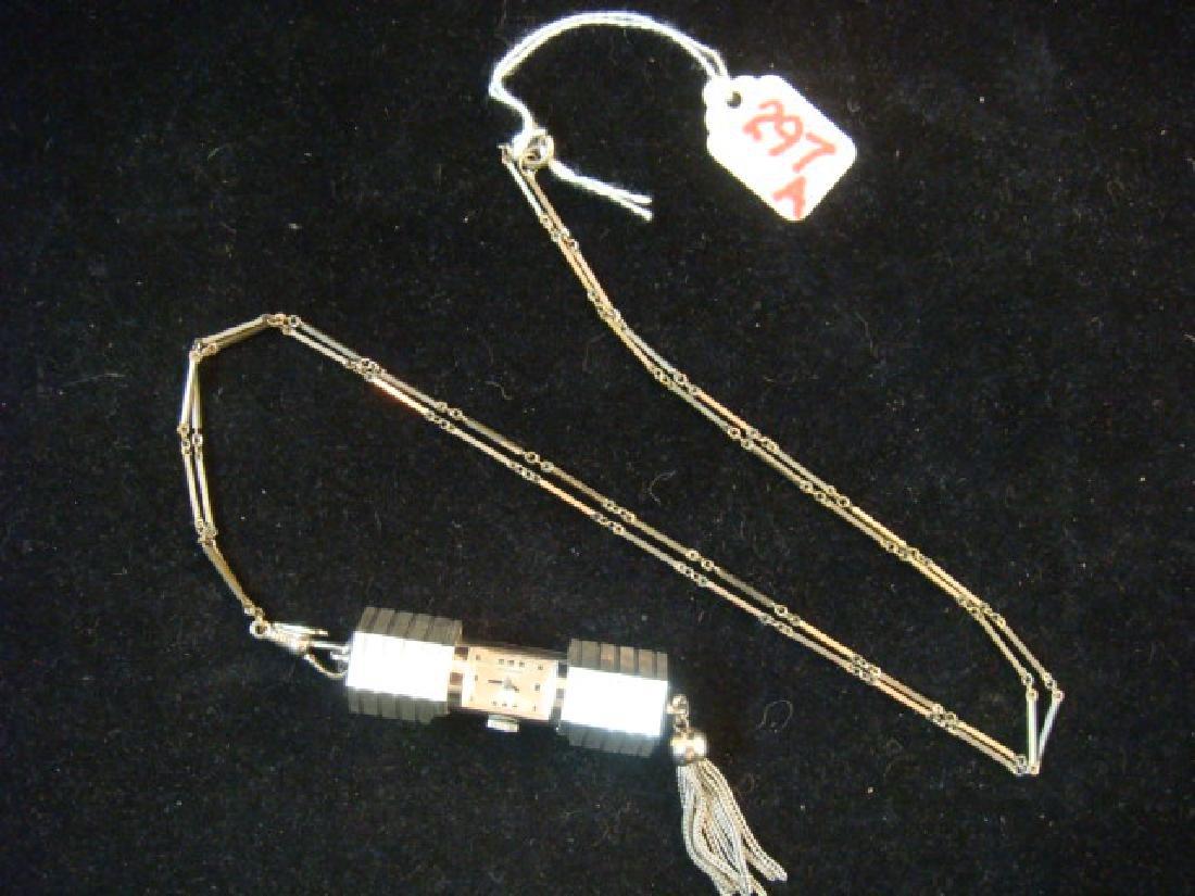 BUCHERER Slide Case Pendant Watch on Chain: