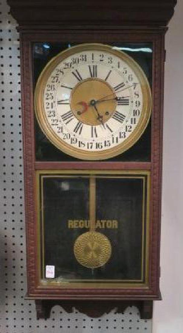 Regulator Eight Day Strike & Chime Wall Clock: