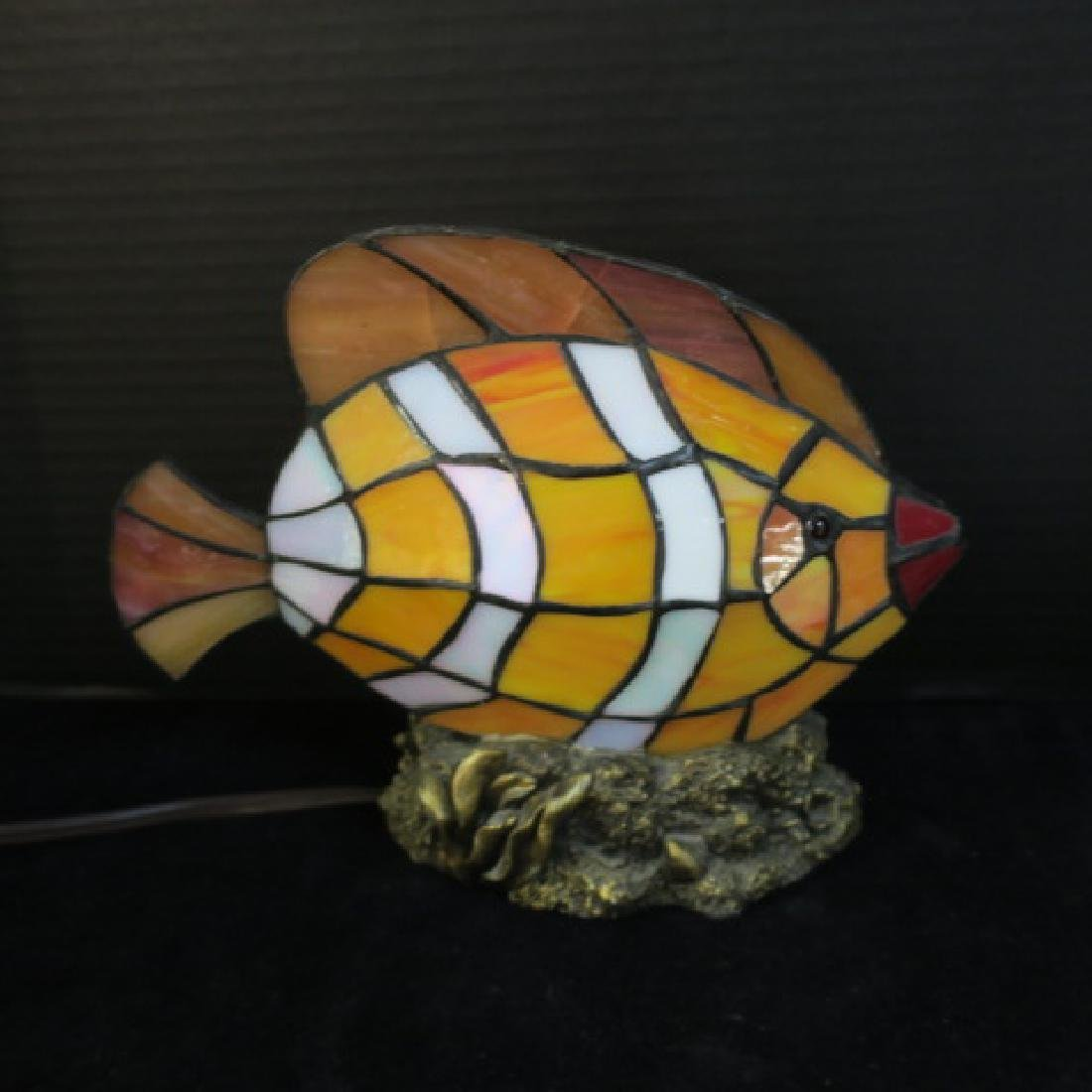 Leaded Glass Clownfish on Composition Base: