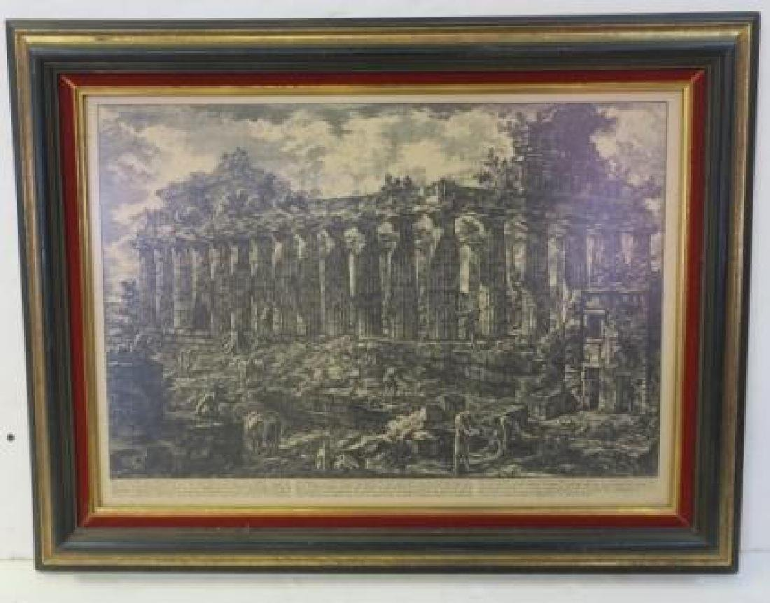 Neoclassic View of Temple by PIRANESI: