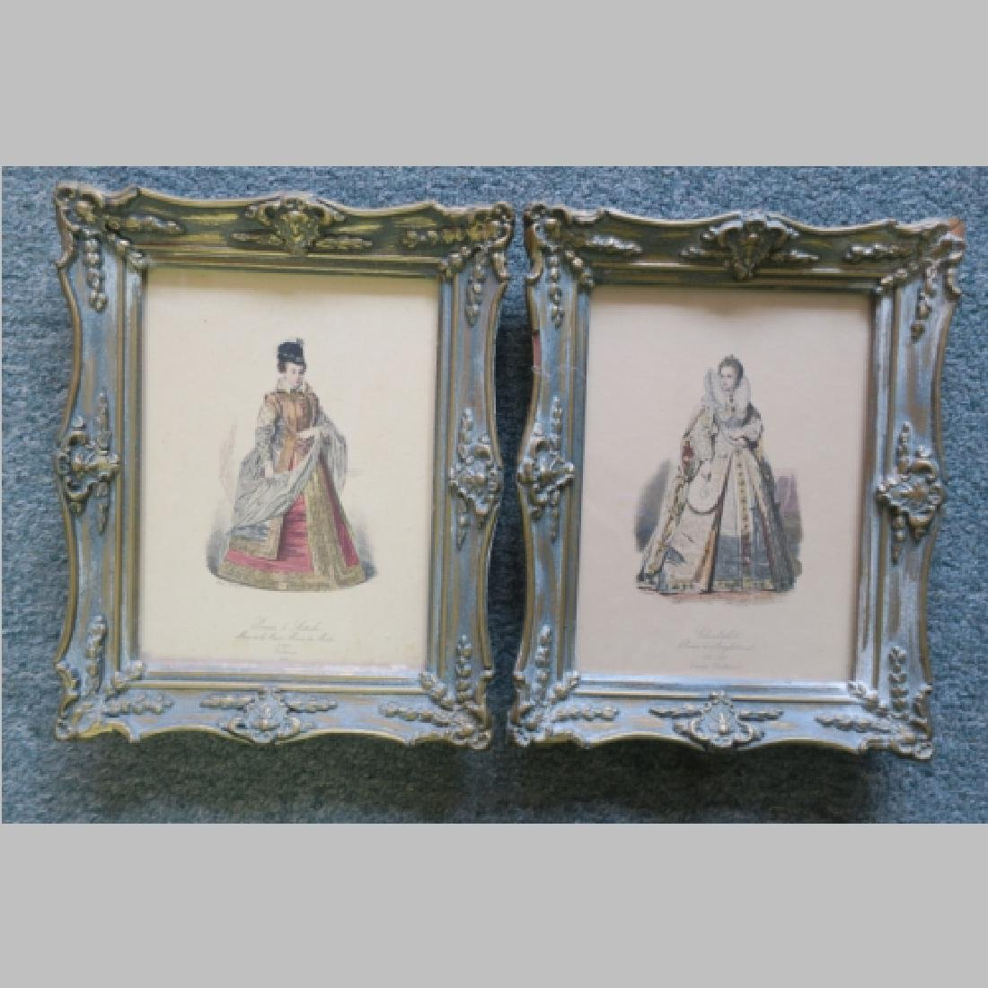 Two Prints of Female Royalty: