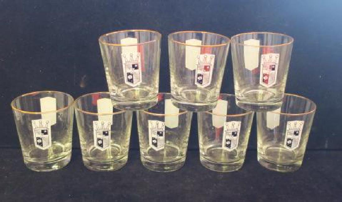 Eight Vintage Zenith Radio TV Highball Glasses: