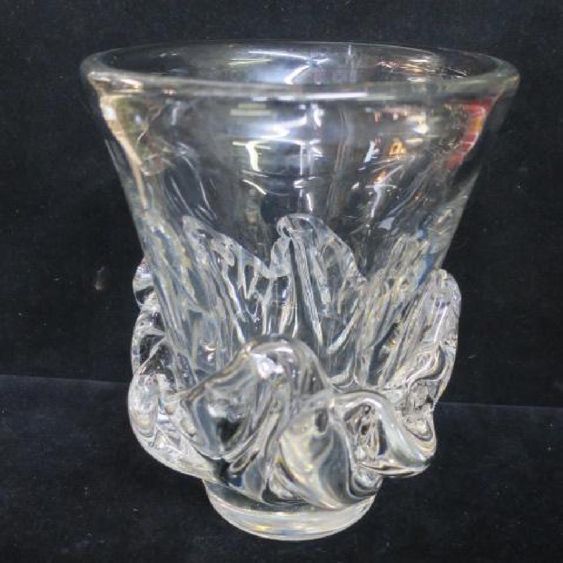DAUM Nancy France Heavy Crystal Center Vase: