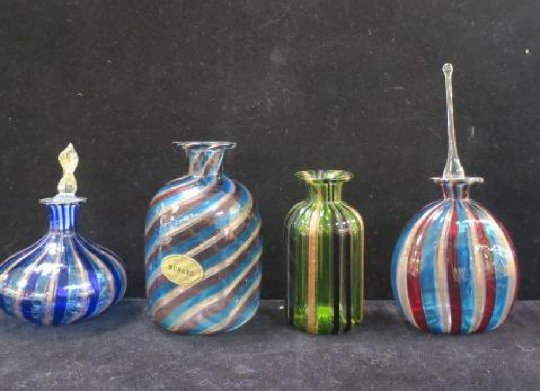 Mid Century Murano Glass Scent Bottles:
