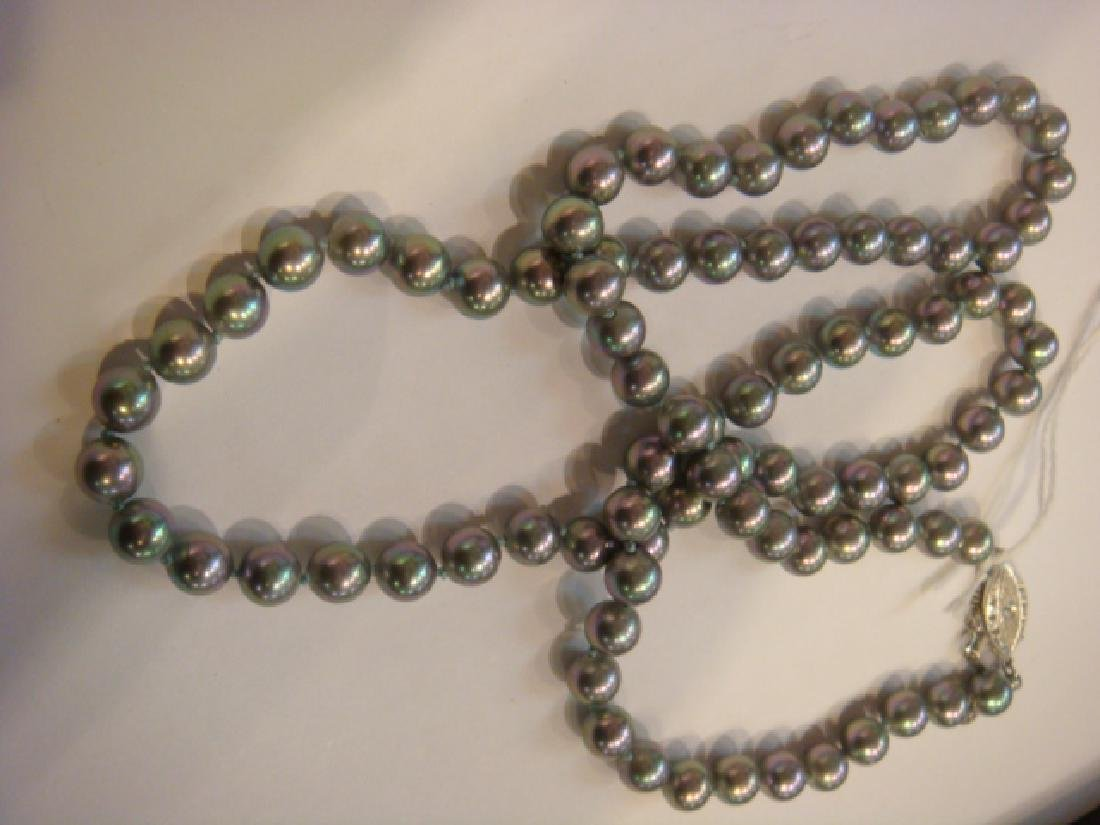 Rainbow Black Pearl Necklace: