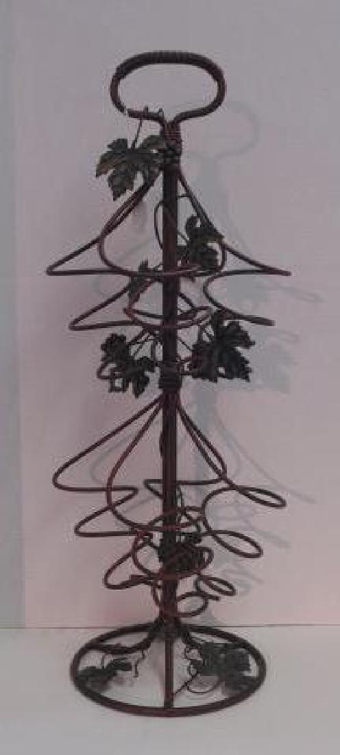 Metal Grape Vine Floor Standing Wine Rack: