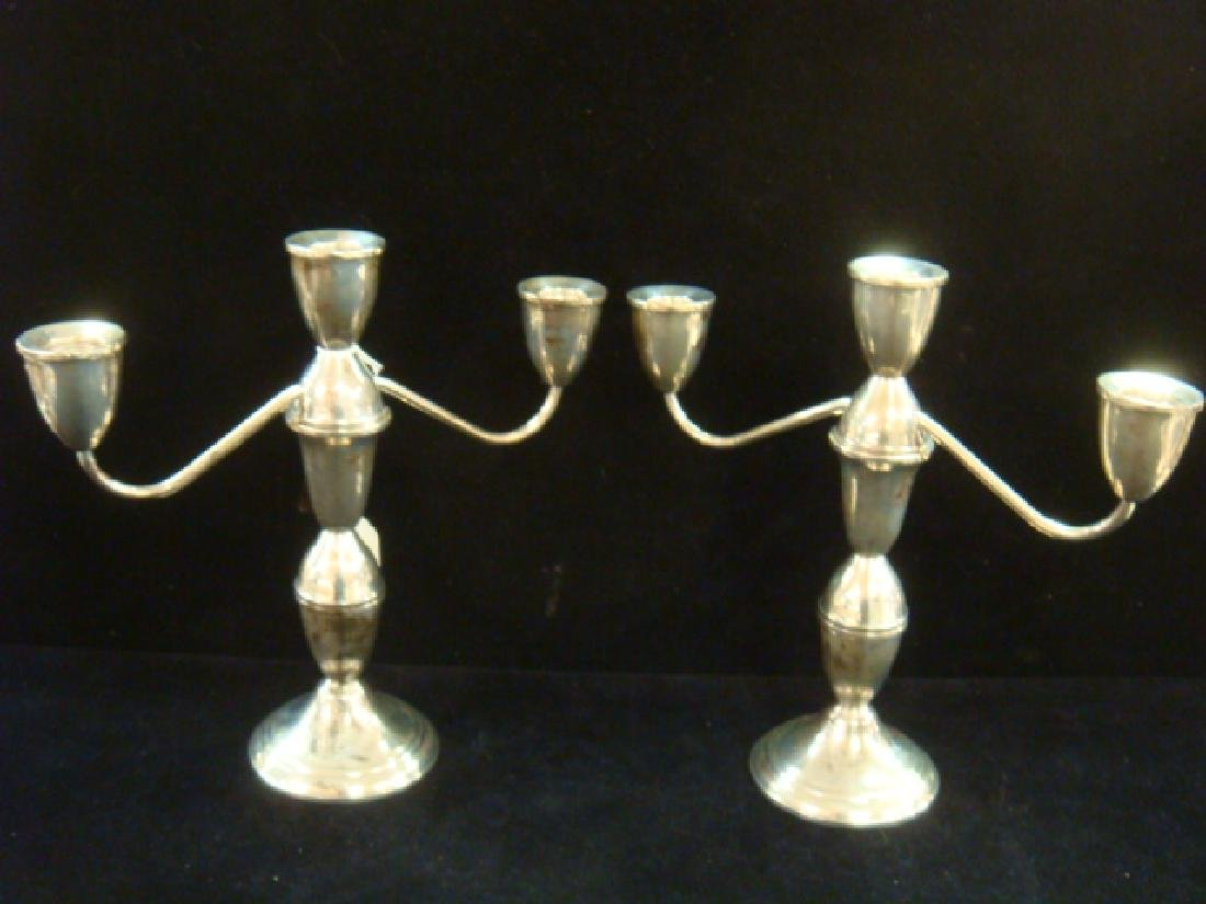 Pair of DUCHIN Sterling Convertible Candelabra: