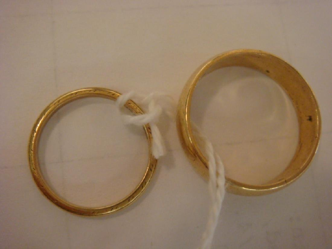 14KT Yellow Gold Ladies and Man's Wedding Bands: