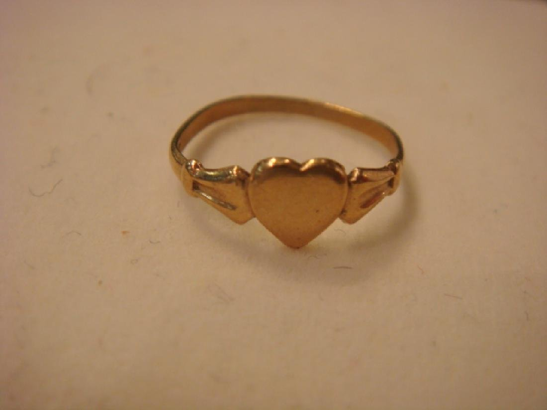 14KT Yellow Gold Childs Bracelet and Ring: - 2