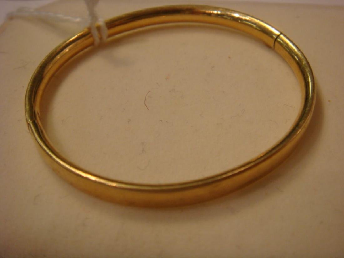 14KT Yellow Gold Childs Bracelet and Ring: - 3