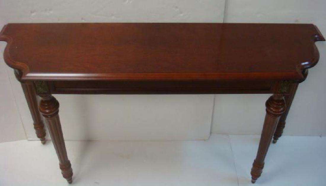 Mahogany Console Table: