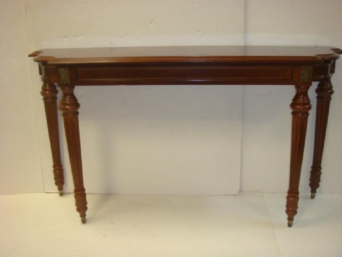 Mahogany Console Table: - 4