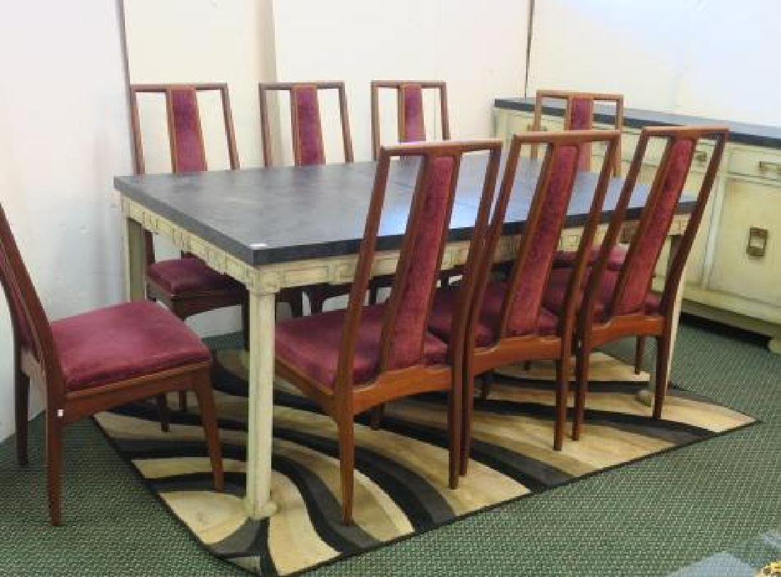 Dining Room Set, Table and Eight Chairs with Server: