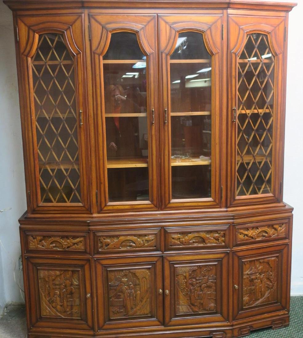 Large Two Piece Modern Japanese Cabinet: