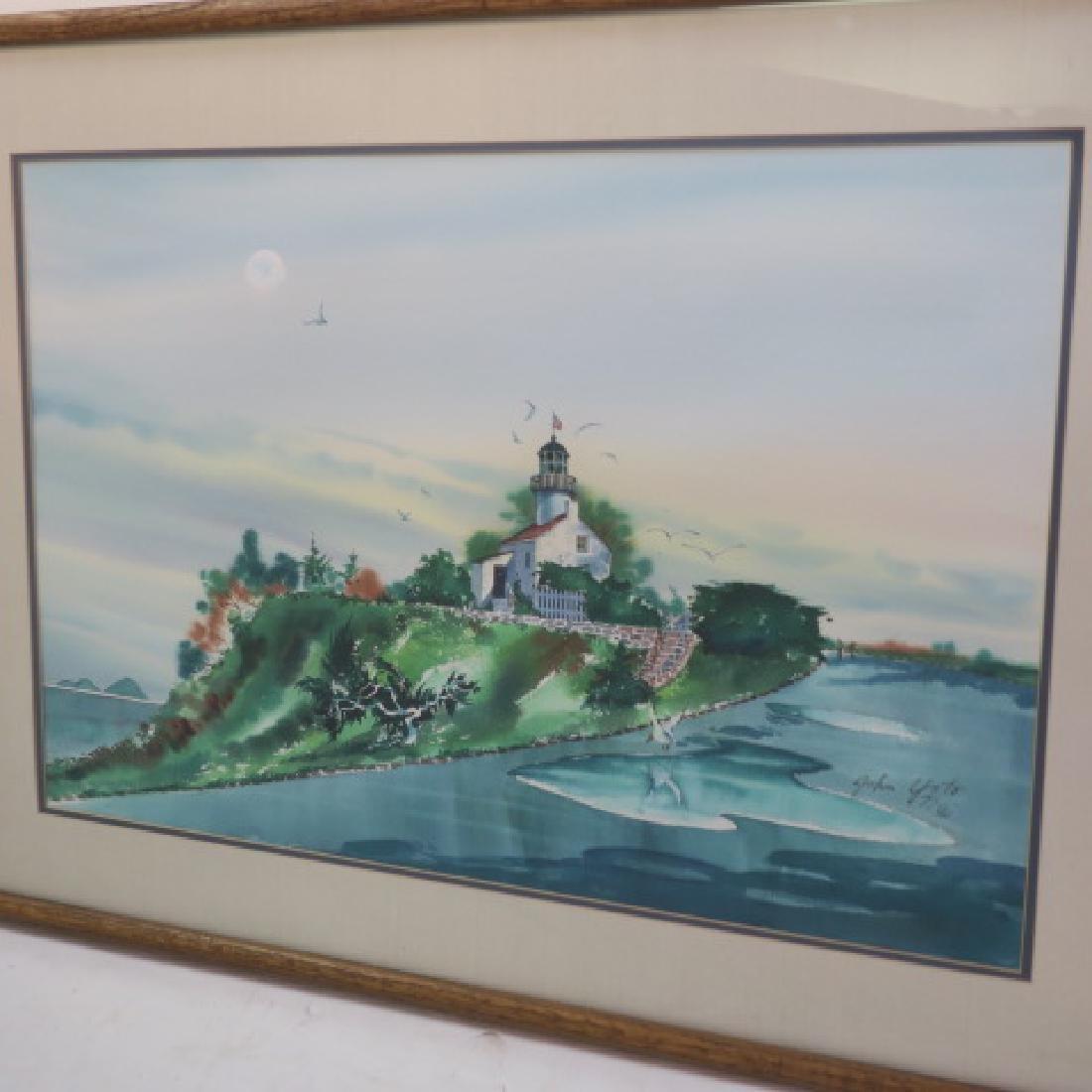 Watercolor Landscape Signed JOHN YATO: